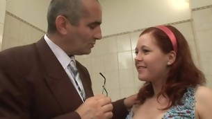 Chick is getting hardcore from behind drilling from teacher