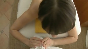Beauty acquires a huge vibrator on her clits in advance of wild drilling