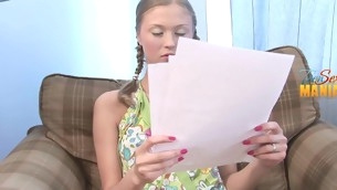 Teen trainer gives her a raunchy lesson