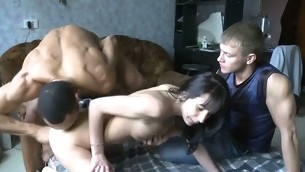 See how this fruitful muscular stranger begins massaging her admirable body in anticipation of wonderful banging.