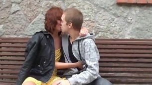 Seductive horny in force age teenager endures bareback action with her fuckmate