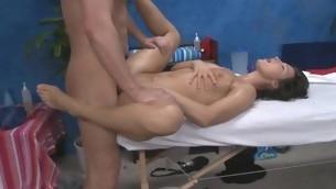 Sexy eighteen year old gets fucked hard hard by her massage therapist