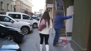 Dude is giving enchanting darling a raucous cunt warm action