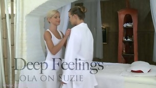 Tantalizing All the following are massaging with gorgeous Lola and Suzie