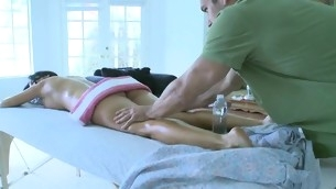 Alluring darling is getting hardcore drilling after massage