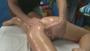 Hawt 18 year old dearly gets fucked hard by the brush rub-down therapist